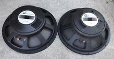 "CLASSIC Pair (2) JBL E140-8 15""  Speaker Drivers ~ Both Work BUT READ"