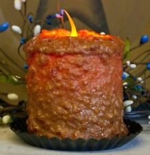"""Primitive/Country Handcrafted Electric Hearth Candle Gingerbread 5"""" x 4'5"""""""