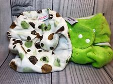 Lot 2 bitti tutto and Blueberry Coverall Cloth Diaper Cover One Size VGUC