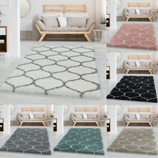 Wohnzimmerteppich Design Hochflor Teppich Muster Kachel Tile Jacquard