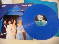 """ABBA Voulez Vous Blue Coloured 12"""" Vinyl LP Limited Edition New Not Sealed"""