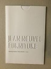 JEAN NOUVEL, 'Furniture' private view invitation card, Gagosian gallery, 2011