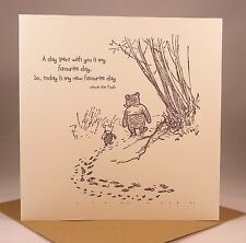 WINNIE THE POOH Husband Boyfriend Wife Girlfriend, Anniversary, Birthday Card