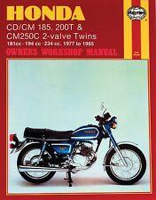 Haynes M572 Repair Manual for 1977-83 Honda CD/CM 185, 200T CM250C 2-valve Twins