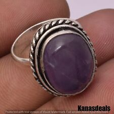 Plated Fashion Ring 7'' Kr-21999 6.5 Gm Amethyst 925 Sterling Silver