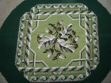 Antique Embroidery Beadwork Needlework Panel Victorian Berlin Work Nice
