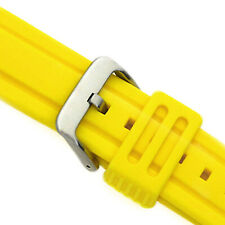 Rubber Wrist Watch Band Diver's Yellow 24 MM Silicone Soft Diver Thick 1A