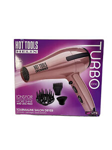 New! Hot Tools Helix Turbo Ionic Tourmaline Salon Dryer - Pink