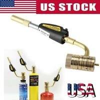 Pro Gas Self Ignition Turbo Torch Brazing Soldering Propane Welding Gun Tool Kit