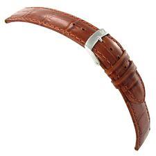 22mm Morellato Samba Italian Leather Alligator Grain Tan Brown Watch Band 2704