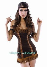 SEXY NATIVE AMERICAN INDIAN PRINCESS WILD WEST POCAHONTAS FANCY DRESS COSTUME
