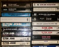 LOT OF 21 ELTON JOHN CASSETTE TAPES 3 PAPER LABELS 1 SEALED LOOK!!!