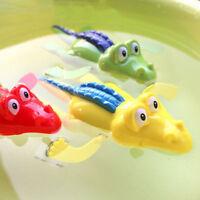 2X Wind Up Clockwork Crocodile Kid Baby Swimming Favor Bath Time Play Toy HST RT