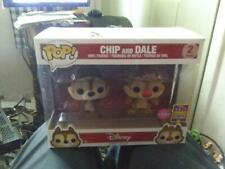 Funko Pop! SDCC 2017 Exclusive FLOCKED CHIP AND DALE  Disney 2-pack
