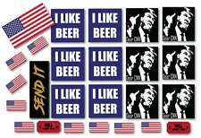 Funny Political Sticker Pack - Trump Kavanaugh US Flags Send It Hell- 21 pack!