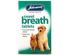 Johnsons Sweet Breath 30 Tablets - Dog Cat Bad Breath Body Odour Dental Control