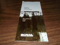 NOVEMBER 1986 BC RAIL PUBLIC TIMETABLE #11