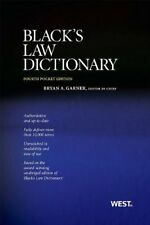 Black's Law Dictionary, Pocket Edition, 4th by Bryan A. Garner
