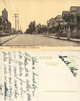 CHESTER PA WEST NINTH STREET ANTIQUE POSTCARD