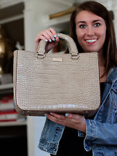 Kate Spade Knightsbridge Quinn BEIGE TAN Patent Leather CROC Tote PURSE HANDBAG