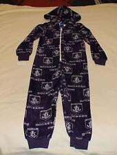 Fremantle Dockers AFL Boys Printed Microfleece Hooded Onesie Pyjama Size 6 New