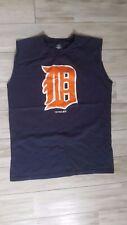 MLB Team Athletics Detroit Tigers Baseball Blue Sleeveless Shirt Size 18 XXL