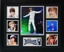 Justin Bieber Limited Edition Framed Signed Memorabilia
