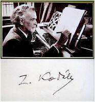 Composer ZOLTAN KODALY Hand SIGNED AUTOGRAPH + PHOTO + DECORATIVE MAT Autogramme