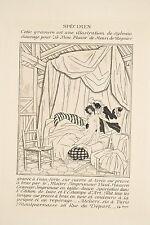 Spécimen Gravure Sylvain Sauvage v 1930 Scène Galante pour Le Bon Plaisir