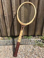 Raqueta de tenis Snauwaert Brian Gottfried madera Racket l-4 rareza como nuevo