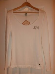 """Replay Women White Crop Top """"Luv Me Replay"""" Size S"""