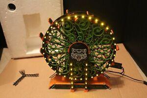Department 56 Scaredy Cat Ferris Wheel Halloween Motion Light Sound 53208