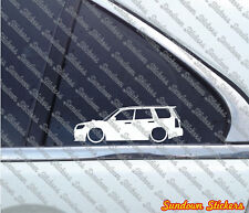 2x Lowered car outline stickers -for Subaru Forester STi ( SG / Facelift 2006+ )