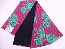 """NUOVO con etichetta giapponese hanhaba Casual Obi Fascia """"in tessuto Gigli's Rosa/Viola/Teal per Kimono"""