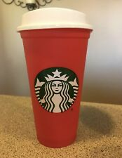 1 Starbucks 2018 Red Reusable 16oz Traveler Drinking Cup with DISCOUNT Brand New