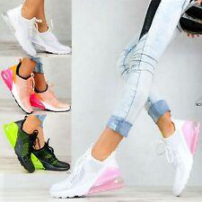Neu Plateau Sneaker Damen Herren Schuhe Stiefeletten Transparent Sohle Pink