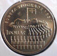2004 AUSTRALIA EUREKA STOCKADE $1 DOLLAR  E MINT MARK UNC COIN on FLAT CARD🌟