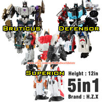 HXZ Transformers G1 5in1 Bruticus Defensor Autobot Robot Action Figure Kids Toys