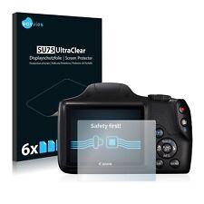 6x Displayschutzfolie Canon PowerShot SX540 HS Schutzfolie Klar Folie