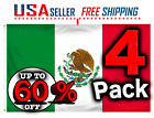 4X NATIONAL MEXICO 3X5 FT 4 PACK FLAG PREMIUM QUALITY TEXAS FAST SHIPPING