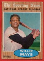 1962 Topps #395 Willie Mays AS VG-VGEX San Francisco Giants FREE SHIPPING
