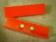 """4-1/2"""" Orange Urethane, Waffle Face, Bench Vise Soft Jaw w/ Magnetic Retention"""