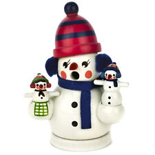 Mini Wooden Snowman Puppet Show Incense Burner Smoker Made In Germany