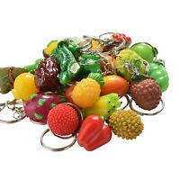 Simulation Food Key Chains Keyring Fake Fruit&Vegetable Lanyard Keychain  Gr