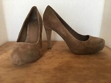 ASOS Suede Taupe/Pale Brown High Heeled 4 ins  Court Shoes Size 6
