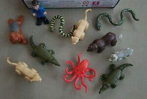 11 Deadly 60 Micro Figures ~ Steve,Bear, Walrus, Octopus, Wolf, Lioness, Snakes