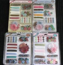 Hotp 'Embellish-Abilities' Brad/Flowers/Ribbon/Butto ns (Choose from 4 colours)