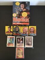 1988 Topps Fright Flicks Complete Cards Stickers Wax Packs Sets & Rarer OPC Box