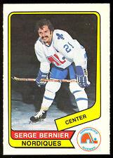 1976 77 OPC O PEE CHEE WHA #109 SERGE BERNIER NM QUEBEC NORDIQUES HOCKEY CARD