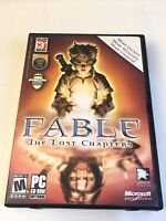 Fable The Lost Chapters PC 2005 4 Disc Set Windows XP Vista Cd Rom RPG With Key